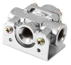 "Spectre Fuel Pressure Regulators include a 3/8"" NPT single fuel inlet and dual 3/8"" NPT fuel outlets"