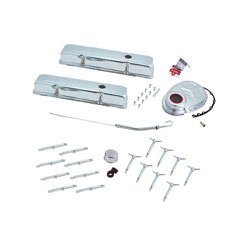 Spectre Block Chevy Engine Dress Up Kit, 5403, includes 2 chrome valve covers, chrome hold down hardware and a dip stick