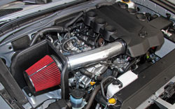 Spectre Performance 2010-2015 Toyota FJ Cruiser 4.0L air intake includes a HPR air filter