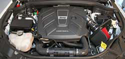 Spectre Performance 9024 air intake installed in the engine bay of the Jeep Grand Cherokee