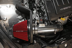 The Spectre 9044 Air Intake includes a polished aluminum tube and black powder-coated heat shield