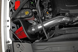 Components includes a polished aluminum intake tube fited to accept the truck's MAF sensor