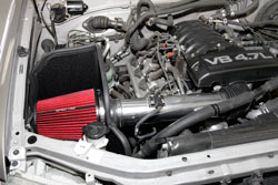 Spectre Air Intake designed to add horsepower to 2005-2006 Toyota Tundra or 2005-2007 Sequoia 4.7L models