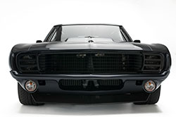 Headlight doors hide the front headlamps, just like those found on some first generation Camaros.