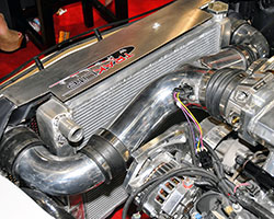 Spectre 4 inch O.D. Y pipe formed the basis of this Chevy LS engine swap intake