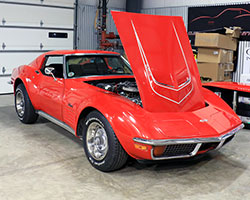 RideTech's latest project car is a 1972 C3 Corvette, powered by an LT-1 V8 and a 4-speed manual transmission