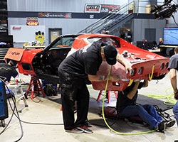Once the tear down of the 48 Hour 1972 C3 Corvette was complete the build team began installing the new RideTech suspension