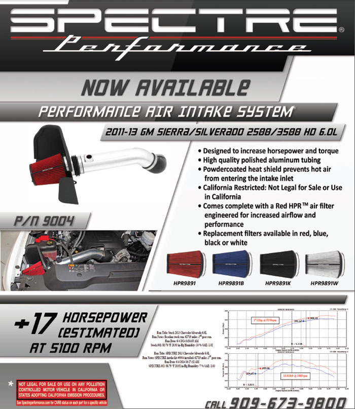 Spectre Performance Air Intake 9004 Sell Sheet