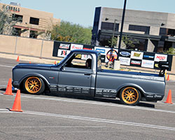 Brandy Morrow Phillips' husband Rob Phillips took his experience racing his 1969 Chevy C10 show truck into consideration when building Brandy's C-10R