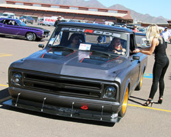 Brandy Morrow Phillips spent the entire weekend giving spectators, and fellow racers, rides in the PCH Rods C10-R