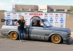 Brandy is able to move into the Goodguys Autocross Pro Class