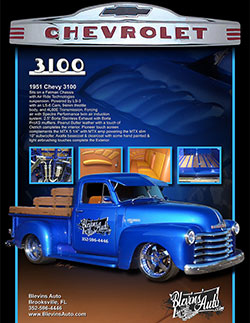 restored 1951 Chevy 3100 farm truck by Blevins' Auto