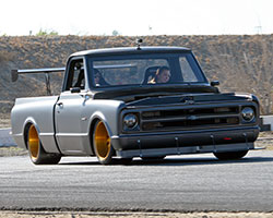 Brandy Phillips is used to racing her second generation Chevy Camaro and racing the PCH Rods 1972 Chevrolet C-10R pickup truck promises to be a whole new driving experience