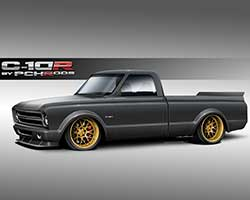 A 1972 Chevrolet C10 pickup will be transformed into the pro-touring inspired C10R concept and takes nontraditional C10 styling cues from the Italian Pagani Automobili Zonda R supercar