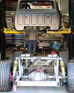 In an effort to keep the C10R from becoming a full blown race car, it will retain the stock 1972 Chevy C10 frame with heavily modified, and unproven, suspension to ensure its competitive