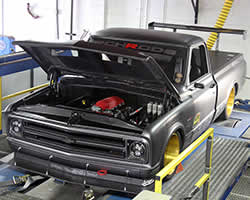 The PCH Rods built 1972 Chevy C10 R on the dyno