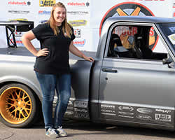 Brandy Phillips and her 1972 Chevy C10 based C10R