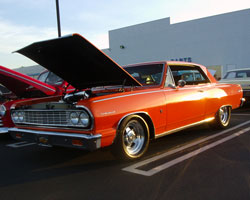 Greg Hacker brought his 1964 Chevy Chevelle Malibu SS to the Rotolo Chevrolet Cruise Night in Fontana, California