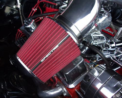 Greg Hacker chose dual Spectre universal air filters for low restriction and better performance on his Chevy Malibu SS