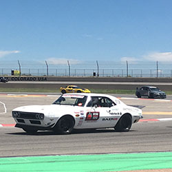 "James Shipka in his Spectre equipped and sponsored 1967 ""One Lap Camaro"" came to WIN. Expert, Shipka, leading the pack in GTV Class on the road course."