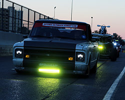 When the 2015 SEMA Show ended all 90 OUSCI competitors, including Brandy Phillips and the 1972 Chevy C10 R, were asked to take part in the 2015 SEMA Cruise