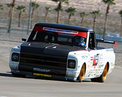 Brandy had an advantage over OUSCI first timers as the Hot Lap Challenge on the road course at Las Vegas Motor Speedway was identical to the course she drove the 1972 C10 R in 2014