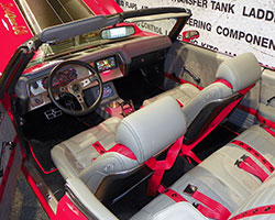 The interior of the Red One 1970 SS Chevelle