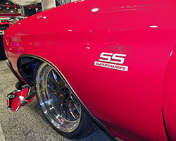 Weld Racing wheels and Continental tires chosen by The Custom Shop look great and reaches about 1,000 horsepower