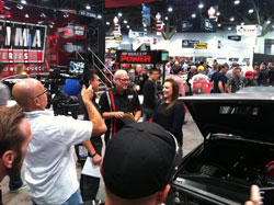 Brandy Phillips accepting her invitation to the 2014 Optima Ultimate Street Car Invitational