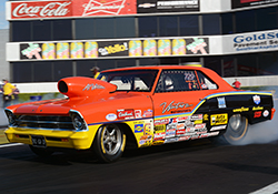 Drag racers routinely run the risk of emptying their oil pan during short runs down the drag strip
