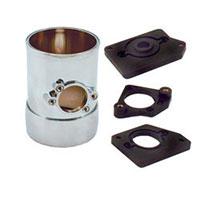 Spectre 8705 3-inch chrome airflow sensor mount