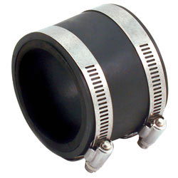 3-inch PVC coupler and reducer