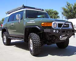 The Toyota FJ Cruiser is a rugged retro styled SUV inspired by classic Toyota FJ40 Land Cruiser models sold from 1960-1984