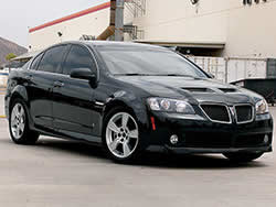 2008 and 2009 G8 based on a Holden Commodore in North America