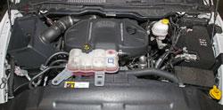 Spectre 9035 air intake system installed in engine bay of 2014 – 2016 RAM 1500 diesel
