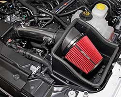 Spectre Performance late model air intake for 2011-2014 Ford F150 pickup trucks with a 5.0L V8 offers increased performance, good looks, easy installation at a great price