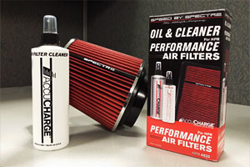 Spectre's AccuCharge® Air Filter Cleaning Kit with a Spectre Air Filter