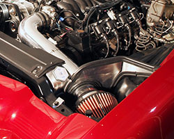 Spectre muscle car filter heat shields are available for the driver or passenger side of popular Chevy models