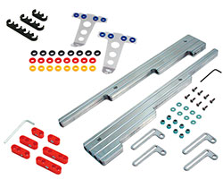 Spectre Performance offers spark plug wire looms and spark plug wire separators in a basic 7 mm plastic economy version all the way up to machined billet aluminum wire looms