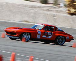 963 Chevy Corvette during 2015 OUSCI autocross at Las Vegas Motor Speedway