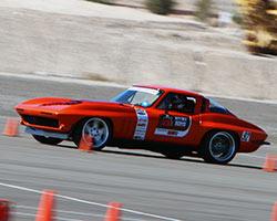 963 Chevy Corvette during 2015 OUSCI autocross at Las Vegas Motor Speedway