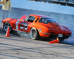 1963 widebody Vette during 2015 OUSCI speed stop challenge