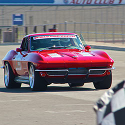 "Jane Thurmond 1964 Chevy Corvette known as ""Scarlett"""