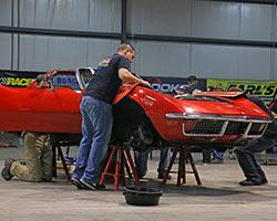 1972 C3 Corvette at RideTech Facility