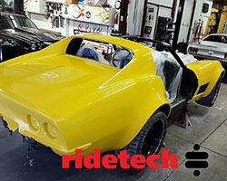 Yellow 1972 C3 Corvette