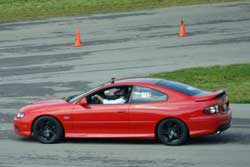 Wally Olczak's 2006 Pontiac GTO on the track