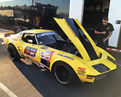 Chris Smith and the Spectre HPR Filter equipped 48-Hour Corvette getting ready for the OUSCI