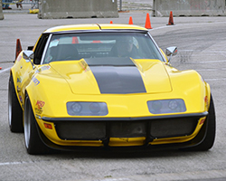 Chris Smith driving the Spectre Performance equipped Ride Tech 48 Hour Corvette