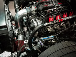 PCHRODS C10R engine bay featuring Spectre intake