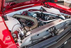 1970 Chevy Nova engine bay featuring Spectre intake